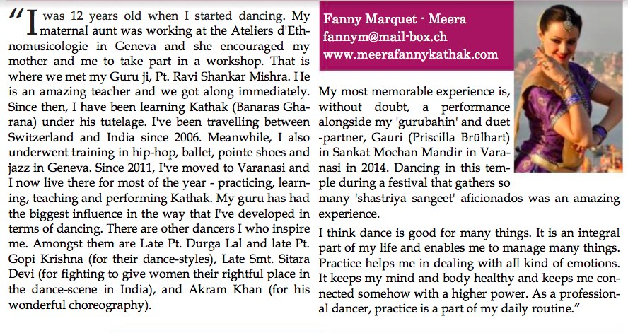 Meera kathak dancer dancing queen article switzerland